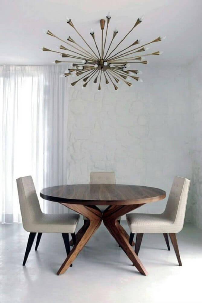 modelos de mesa de jantar redonda de madeira