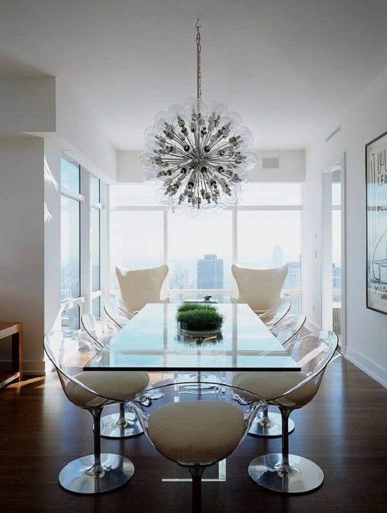 modelos de mesa de vidro para sala de jantar