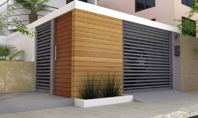 Modelos de muros de madeira para fachada de casas