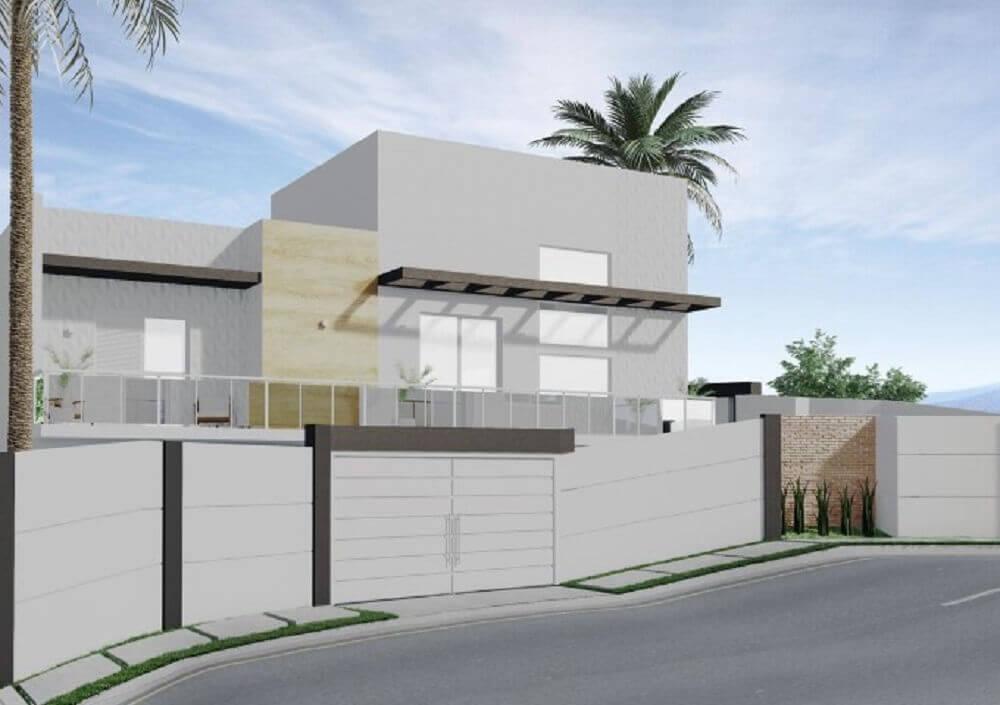 60 fachada de muro para inspirar o seu projeto for Modelos de casas grandes
