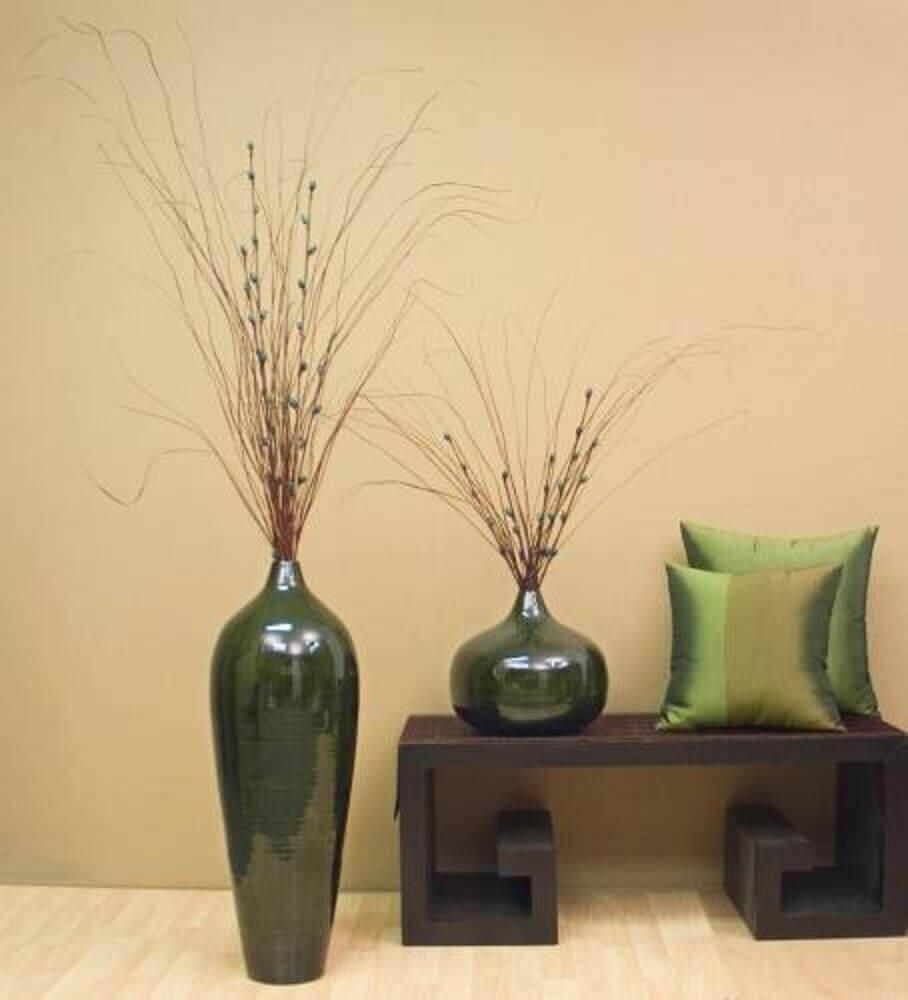Modelos de vasos decorativos com cerâmica esmaltada