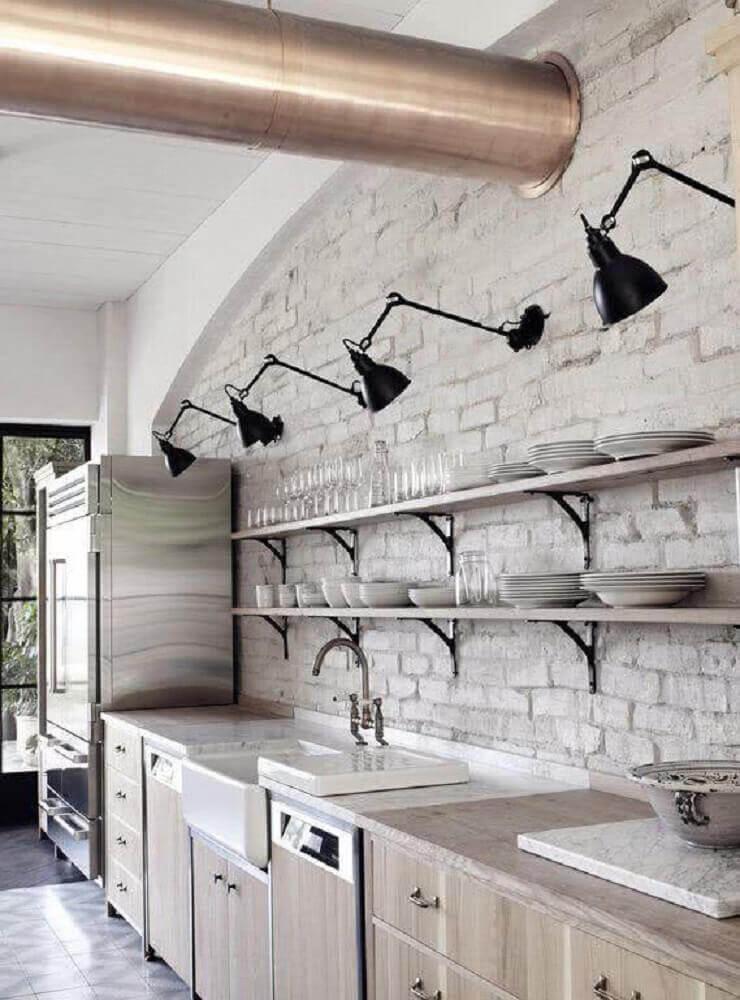 moderna luminária preta para cozinha