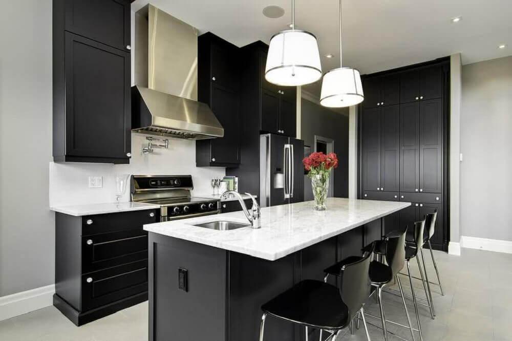 pendente para cozinha preta