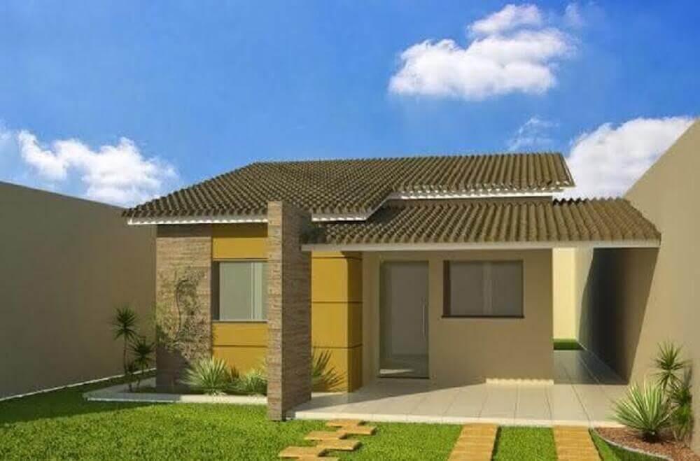 revestimento para frente de casas simples
