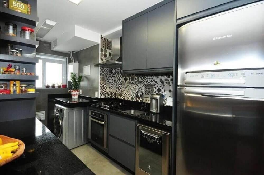 Azulejo decorativo para revestimento parede cozinha moderna