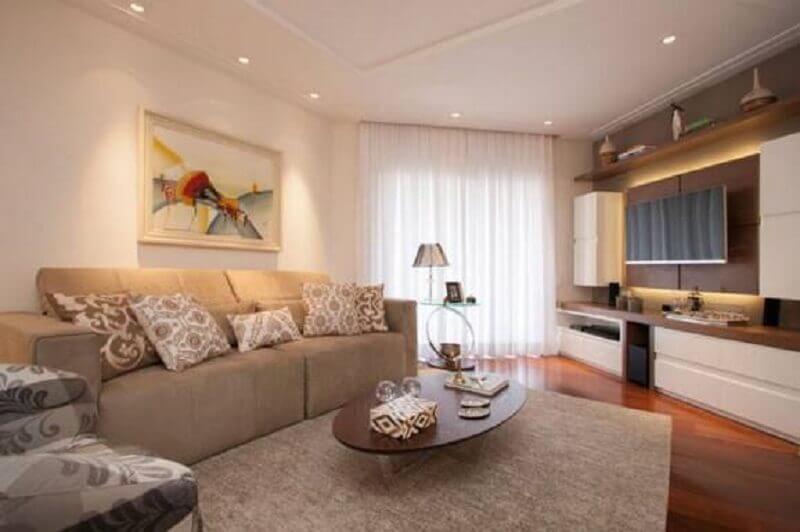 Sala com paredes de gesso