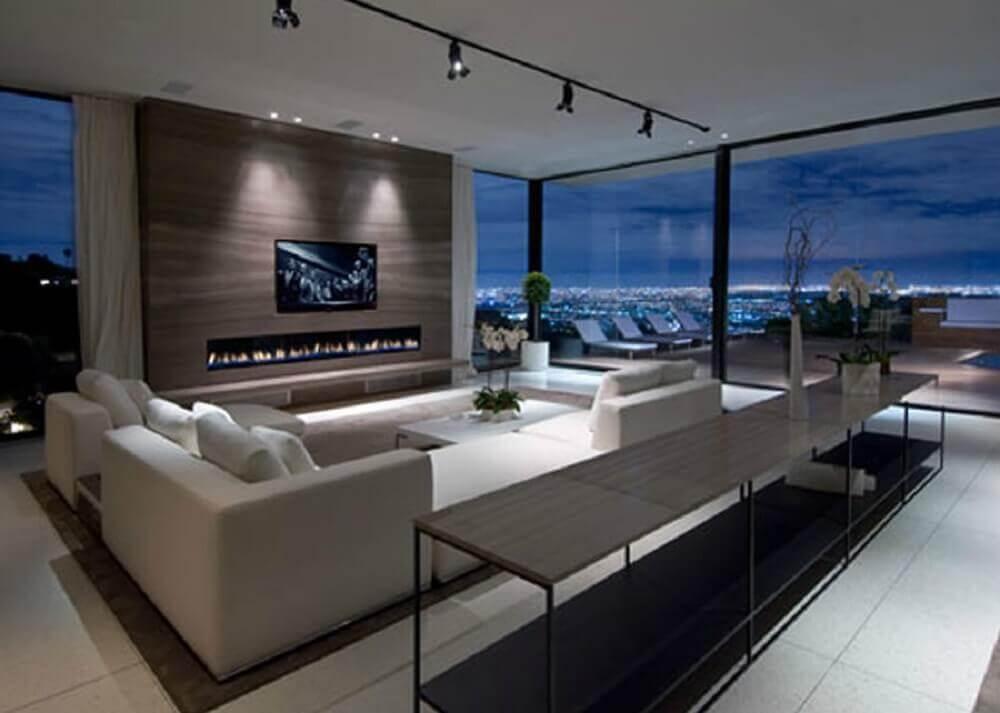 sala moderna para casas de luxo