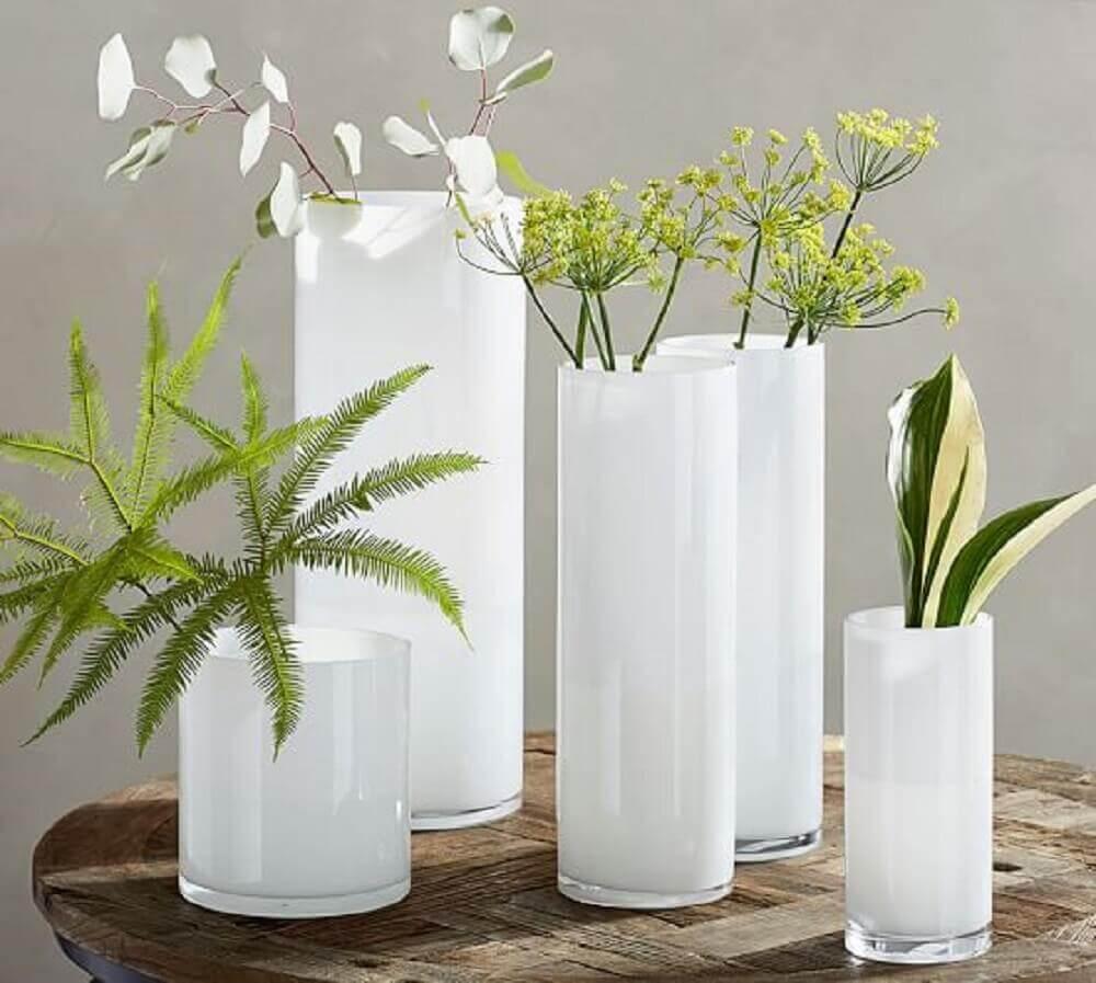 Simples modelos de vasos decorativos