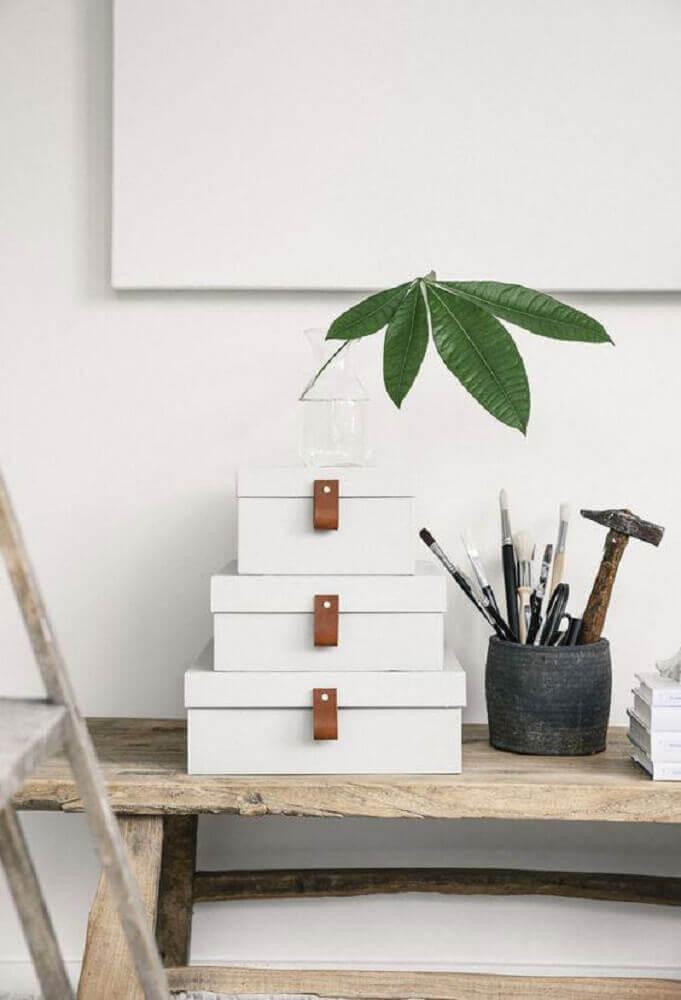 sofisticado artesanato com caixa de sapato
