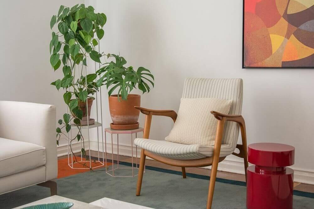 delicado suporte para vasos de plantas