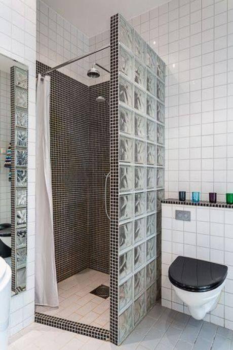 tijolo de vidro - box com tijolos de vidro simples