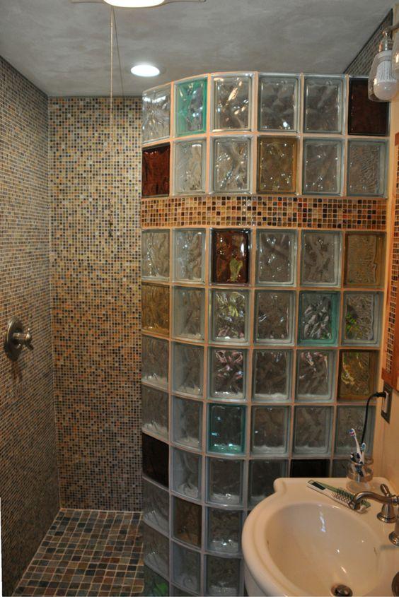 tijolo de vidro - box de banheiro com tijolo de vidro