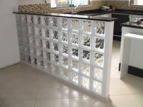 tijolo de vidro - meia parede com tijolo de vidro