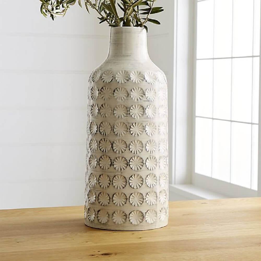 vaso decorativo branco