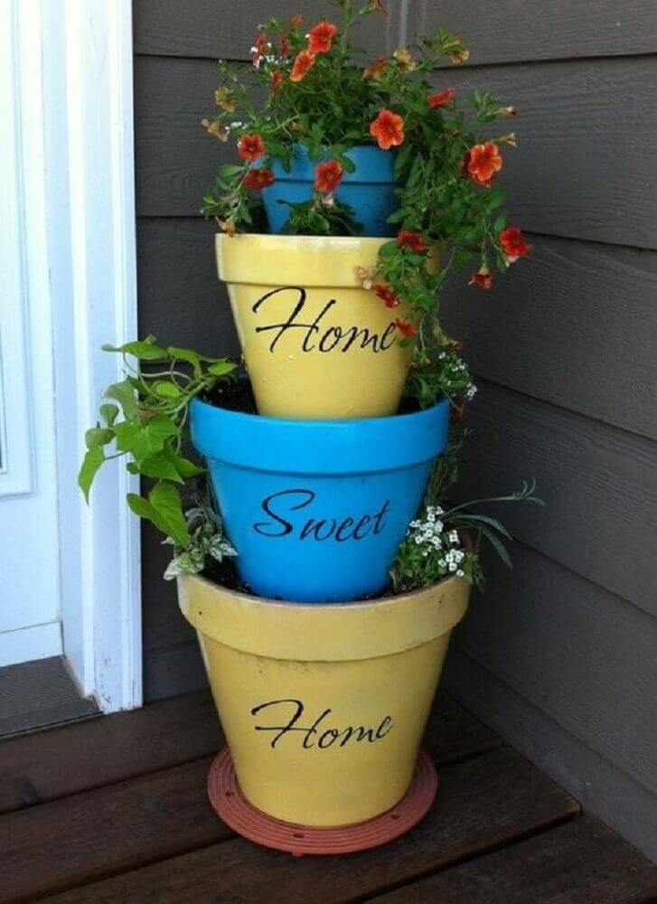 Vasos de plantas como escolher 47 modelos para inspirar voc - Exterior paint for plastic decor ...