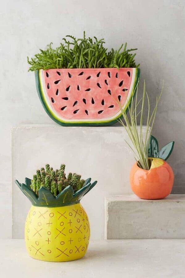 vasos decorativos em formato de frutas Foto Anthropologie