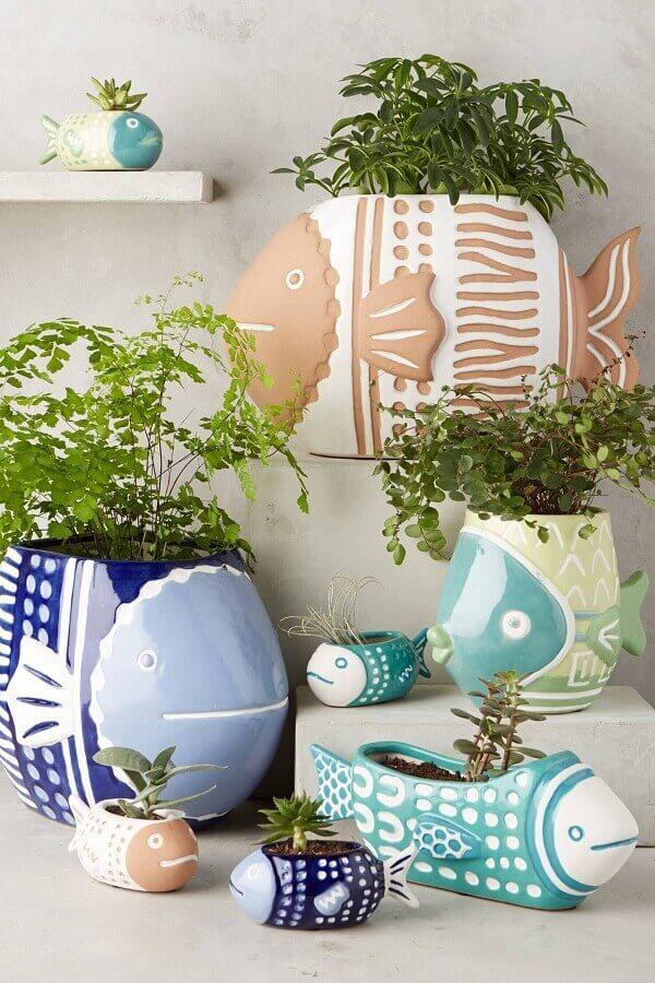 vasos decorativos em formato de peixe Foto Pinterest