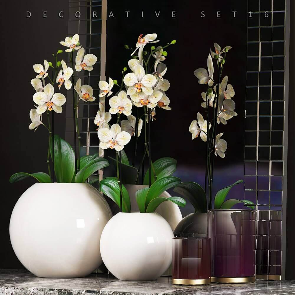 vasos decorativos brancos e redondos