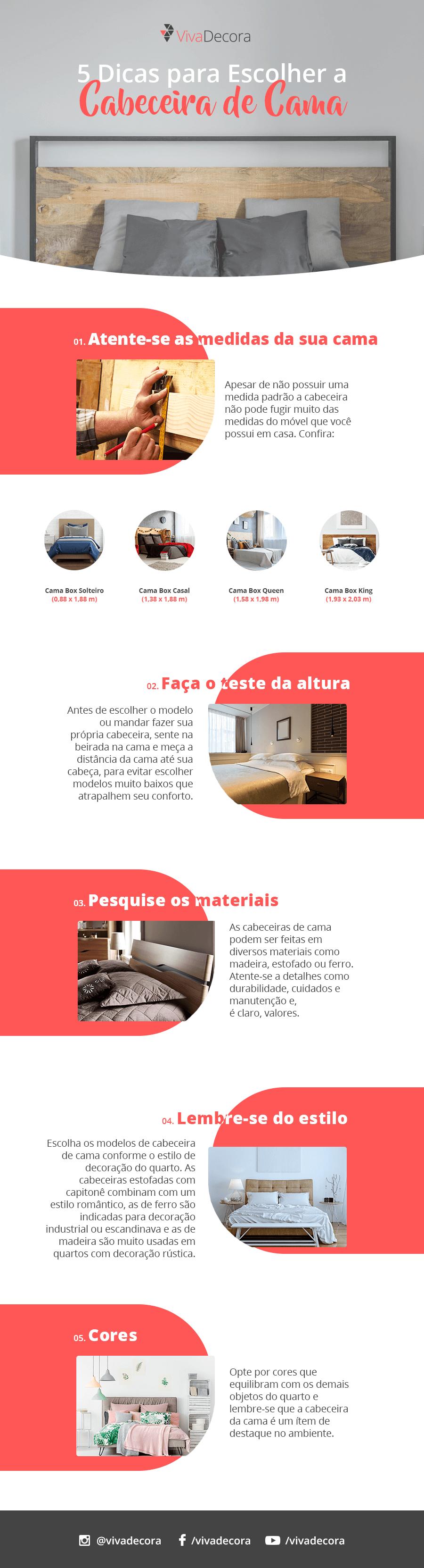 Infográfico - Como escolher a cabeceira de cama