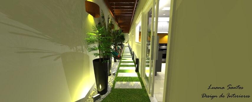 Arandelas externas em varanda Projeto de Luana Santos