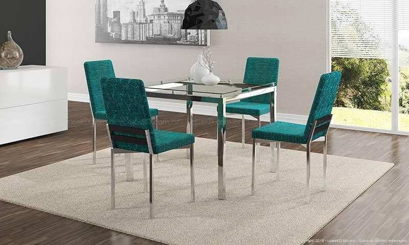 Cadeiras azul Tiffany Projeto de Lojas KD