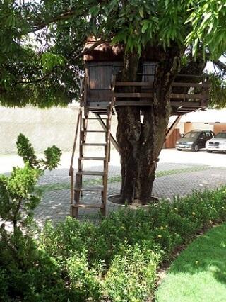 Casa na árvore em estacionamento Projeto de Julio Anjos