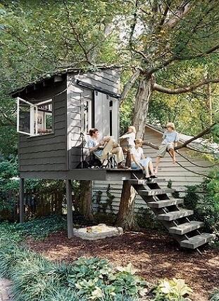 Casa na árvore para família toda