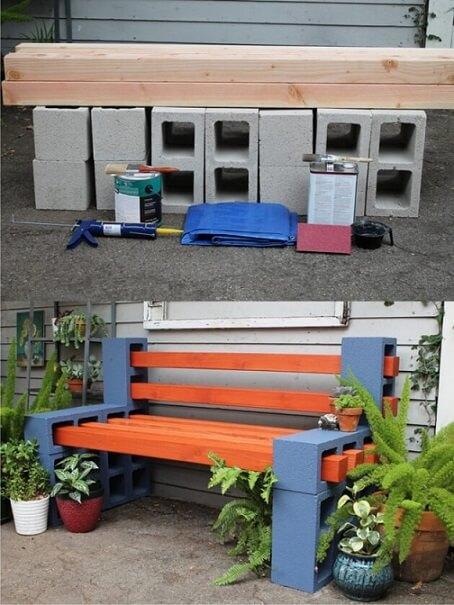 Como fazer banco de concreto