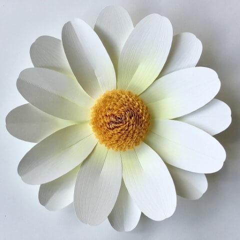 Como fazer flor de papel com camadas