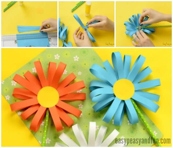 Como fazer flor de papel com tiras