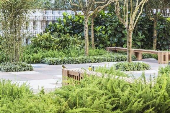 Como fazer um jardim com bancos de madeira Projeto de Alex Hanazaki