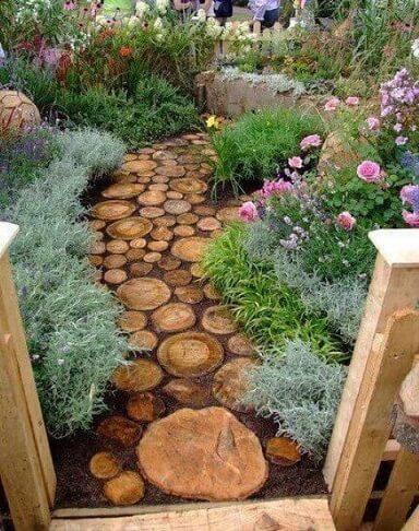 Como fazer um jardim com caminho de madeira Projeto de Adriana Olli
