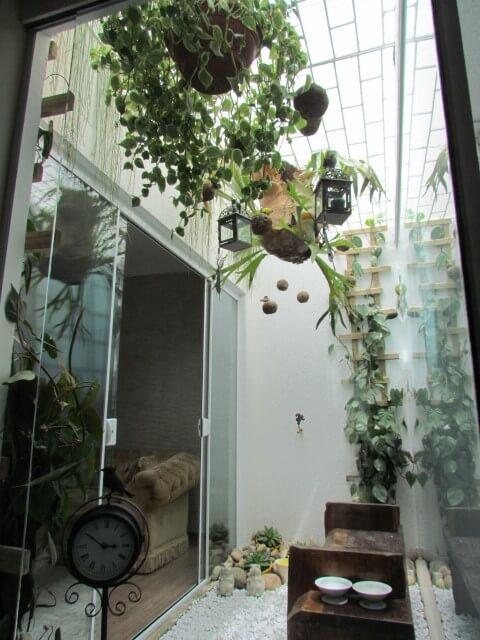 Como fazer um jardim de inverno com treliça Projeto de Mattiolli e Claudino
