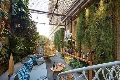 Como fazer um jardim vertical em área aberta Projeto de Casa Cor MG 17