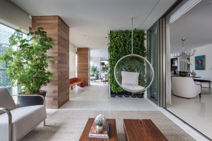 Como fazer um jardim vertical em varanda gourmet Projeto de Luciana Tomas