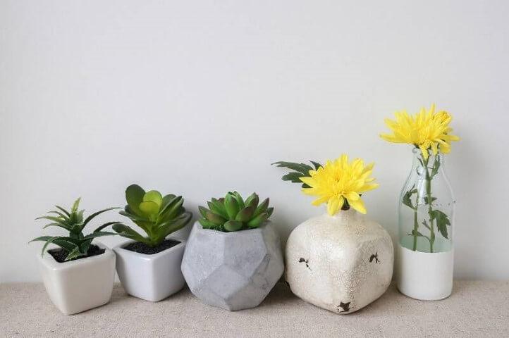 Como fazer vaso de cimento para suculenta