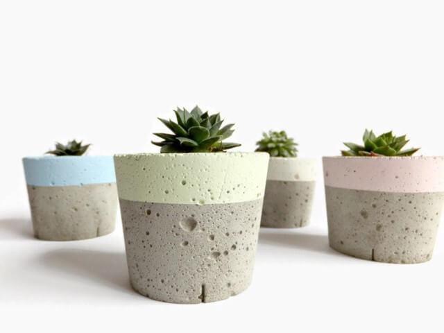Como fazer vaso de cimento pequeno