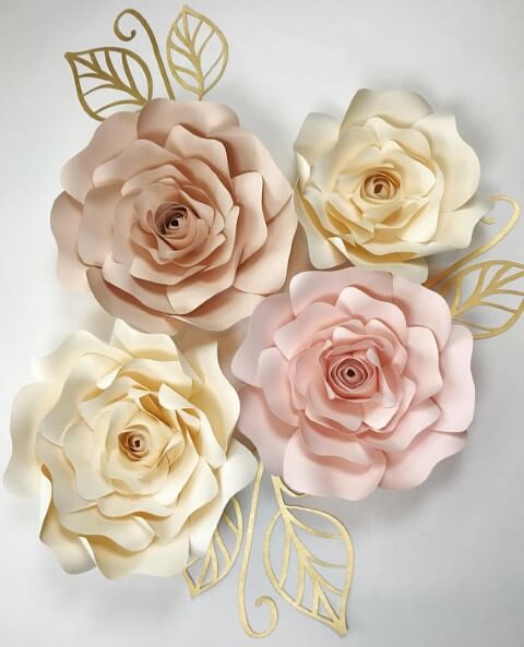 Decora o com flores de papel 5 tutoriais simples 25 for Como colocar papel mural