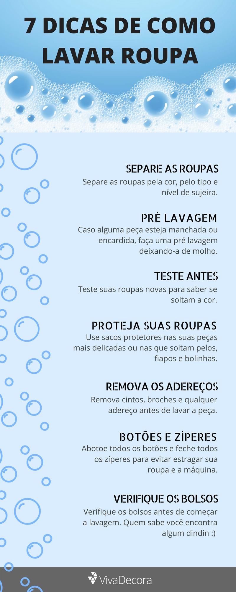 Infográfico - Como lavar roupa