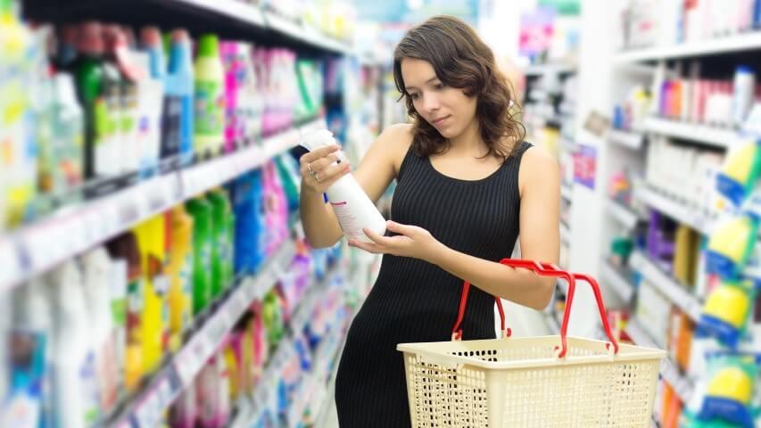 Lista de compras de limpeza