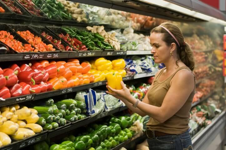 Lista de compras de verduras