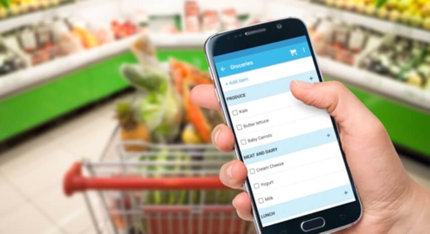 Lista de compras no celular
