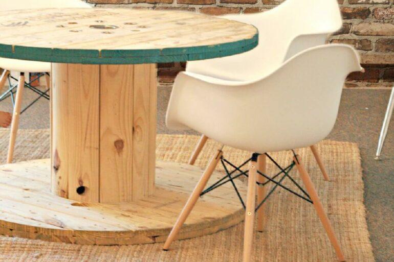Mesa de carretel. Fonte: Pinterest