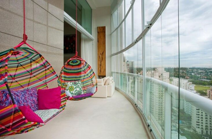 Modelos de poltronas suspensa Projeto de Fernanda Marques
