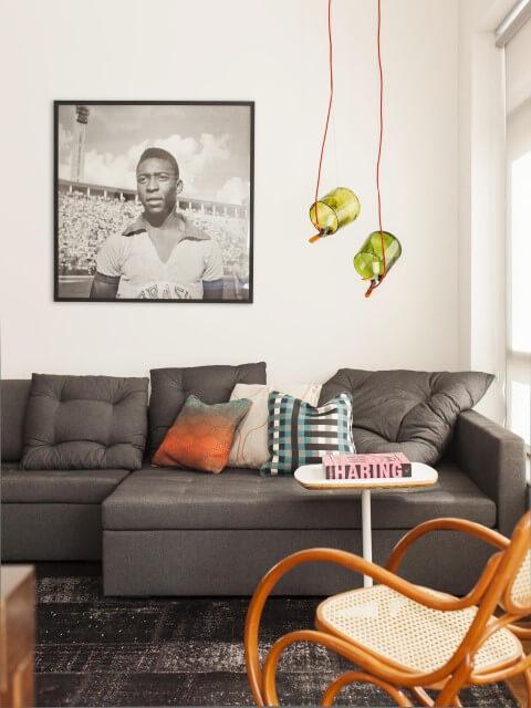 Modelos de sofá com chaise Projeto de Mauricio Arruda