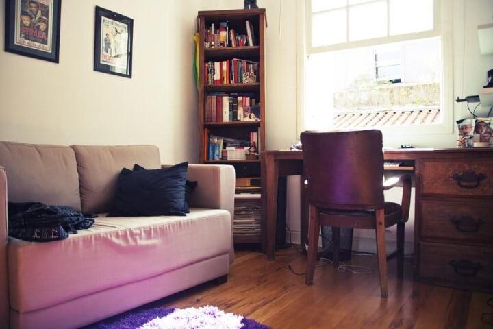 Modelos de sofá tradicional bege Projeto de Casa Aberta