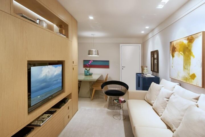 Modelos de sofá tradicional branco Projeto de Coutinho Vilela