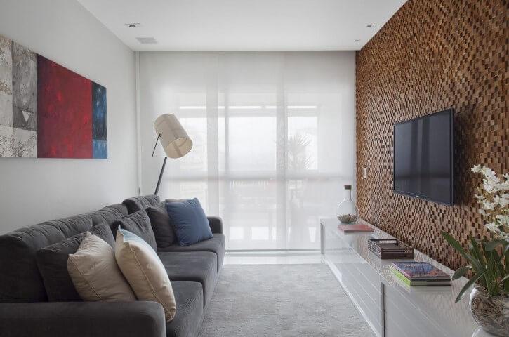 Modelos de sofá tradicional cinza Projeto de Fernanda Azevedo Mancini