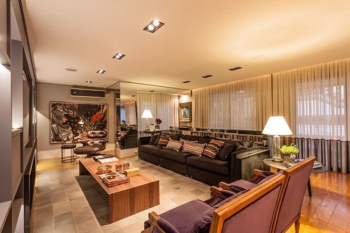 Modelos de sofá tradicional grande Projeto de Juliana Pippi
