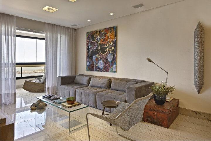 Modelos de sofá tradicional marrom Projeto de Coutinho Vilela